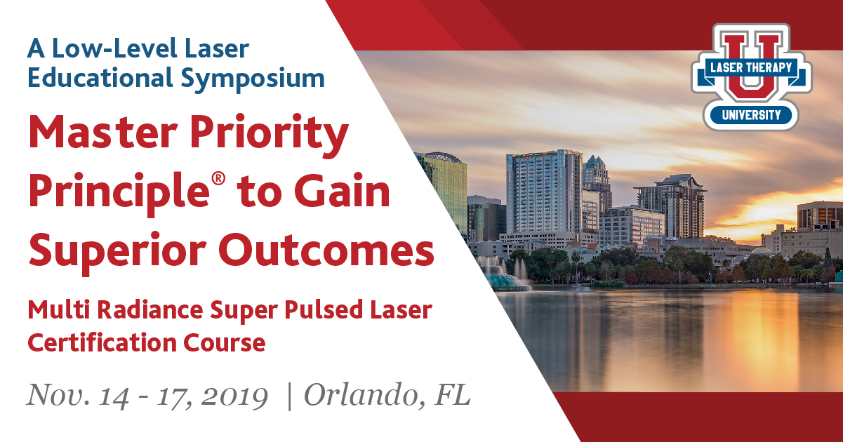 Register for Laser Therapy U Symposium 2019